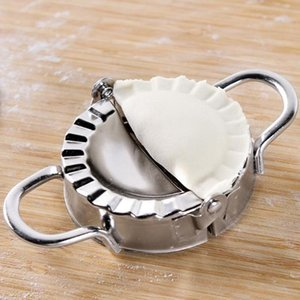 Nueva máquina para hacer bolas de masa hervida 304 Máquina para hacer bolas de masa hervida de acero inoxidable Dough Press Cocina Dumpling Pie Mould Maker Herramienta de pastelería Dumplings Folder