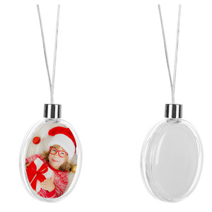 adornos navideños de sublimación forma redonda de la bola materiales de consumo personalizado personalizado suministros material de impresión de transferencia caliente regalo de navidad nuevo estilo
