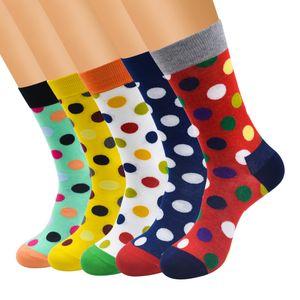 Colorful Point fashion Men socks women Stripe Korea socks Cotton long brand new high quality lovers women socks men's sock