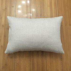 12x18 lençóis de linho fronha para DIY sublimação 100% poliéster serapilheira olhar capa de almofada capa de linho fronha