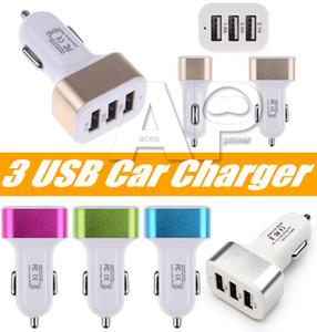 3 포트 차량용 USB 충전기 어댑터 아이폰 (11) 프로 삼성 갤럭시 노트 (10) USB 범용 소켓 3 포트 자동차 충전기 5V