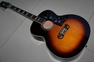 Atacado Gibsonsj 200 Acoustic Guitar Made Of lado Sólidos bordo Fir Top de bordo e volta em yeiiow / preto 121202