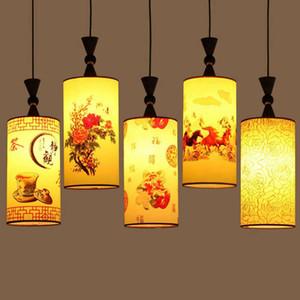 Peinture chinoise Restaurant Pendentif Lampe Traditionnelle Salle À Manger Cuisine Pendentif Lumière Balcon Corridor Couloir Suspendu Lumières