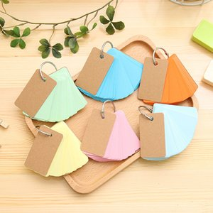 Candy Color Memo Pad Blank Paper Card Loose Leaf Buckle Planmer Notes Word Cards Stationery Office School Supplies Gift
