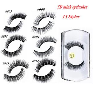 100% 3D Mink Maquiagem Cross Cílios Postiços Eye Lashes Extensão Handmade natureza cílios 15 estilos para escolher também têm cílios magnéticos