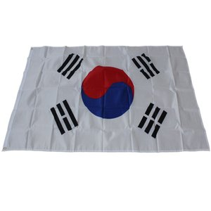 Grande Tamanho 90 * 150 cm 3x5ft Bandeira Da Coreia Do Sul-Poliéster Taegeukgi Coreano Bandeiras Nacionais Bandeira para o Desfile Festival Casa Quintal Decoração