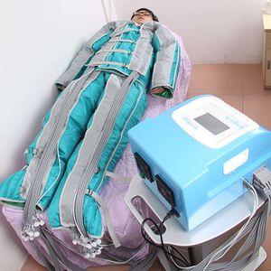 Presoterapia masaje drenaje linfático tratamiento de adelgazamiento pérdida de peso cuerpo desintoxicación estiramiento de la piel máquina 24pcs presión de aire