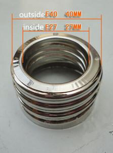 10pc / lot E27 à E40 Adaptateur anneau E40 à E27 Convertisseur de support de lampe Grande vis de rechange Petite vis en acier inoxydable Tête de conversion