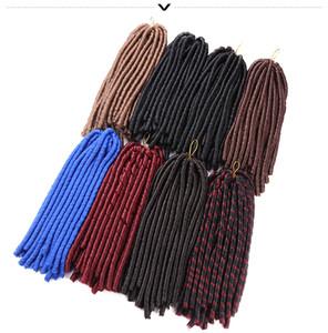 14inch 30strand faux locs häkeln zöpfe haare synthetische flechten weiche dread haarverlängerungen Hochtemperaturfaser