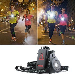 1200lm XPE deporte al aire libre de las luces corrientes Q5 LED de la noche Ejecución de las luces de advertencia de carga en el pecho blanco de la lámpara luz de la antorcha del USB
