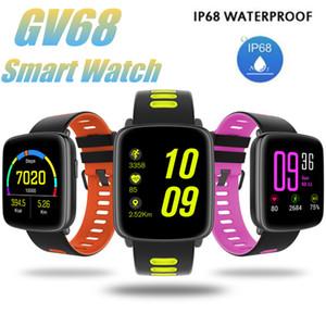 Bluetooth SmartWatch GV68 IP68 Montre de sport étanche à l'eau avec bretelles interchangeables Hear Rate Monitor pour femmes hommes