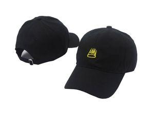 Nueva llegada Sinner Crown gorra de béisbol curva sombrero papá 100% algodón J. Cole Sinner corona 6 paneles Yeezus Strapback sombreros para hombres mujeres