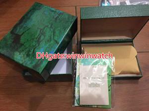 Homens baratos do tipo para a caixa de madeira verde original e os papéis da caixa de relógio