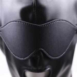 Sexy Erwachsene Sex Spielzeug für Paare Fetisch Bondage Kabelbaum Mund Hood Mask Head BDSM Sklave Offene Rückhalteshaube Bondage Erotikshop Odmia