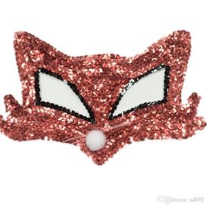 Lady Halloween Demi-Visage Maks Masquerade Costume Femmes Balle Paillettes Renard Masque Mode Creative Perle Pièce Ornements 3 5hj Ww