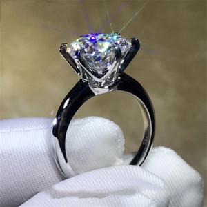 2018 пасьянс кольцо 100% Soild 925 стерлингового серебра ювелирные изделия 1.5 ct Sona Diamond Cz обручальное кольцо кольца для женщин