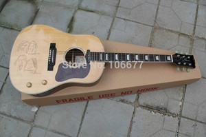 송료 무료 신제품 Arrival J - 160E 존 레논 한정판 자연 나무 스프루스 탑 GUARANTEED Acoustic Guitar