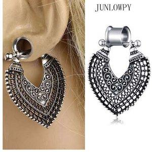 JUNLOWPY Kadın Dangle Küpe Fişler Ve Tüneller Kristal Kulak Göstergeler Piercing Kiti 0G Expabnder Sedyeler Vücut Takı 2 adet