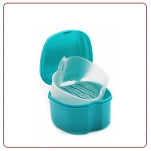 Creative Stomatology Denture Box Container Cute Apple Shape Full Plastic Dental Tooth Storage Bath Case False Teeth Rinsing 3dk ii