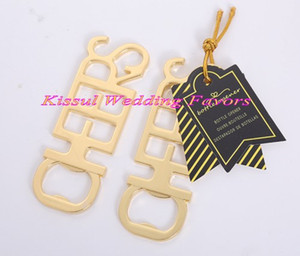 (25 Pieces lot) Newest Event and Party Decorations Favors of Cheers Antique Gold Bottle Opener Wedding and Bridal showers