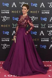 Maniche lunghe Zuhair Murad Abiti da sera Perline Sheer Neck Illusion Corpetto Prom Dress Paillettes Runaway Formal Red Carpet Abiti da festa