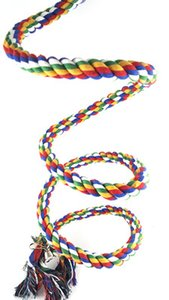 3 SIZE Bird Perch Rope Bungee Bird Spirale Corde Perche Coton Perroquet Swing Escalade Jouets Debout Avec Bell