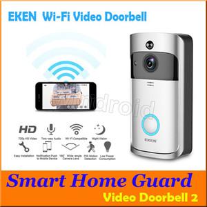 는 Eken 무선 비디오 문 전화 720P HD PIR WIFI 현관의 벨 인터콤 IP 카메라 양방향 오디오 166 °의 광각 카메라 렌즈 야외 보안 DHL