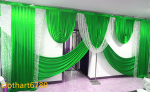 배경의 휘장 valance wedding stylist background swags 배경 디자인과 drapess의 3M * 6m Party Curtain Celebration Stage drapes