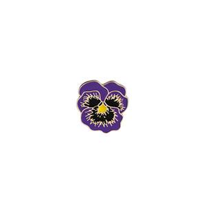 Papoula Flor Broche de Moda Flor Roxa Forma Esmalte Broche Denim Jaquetas Collar Lapela Pin Emblema Jóias