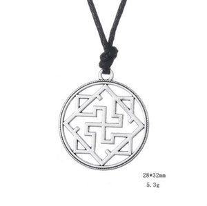 Fashion Valkyrie Symbol Pagan Amulet Pendant Slavic Old Style Necklace Goth Collares Gioielli russi Drop Shipping