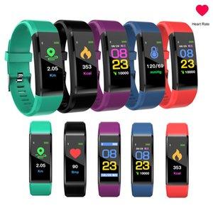 ID115plus بلوتوث الذكية ووتش OLED القلب معدل الرياضة سوار عداد الخطى المقتفي المنبه لفون الروبوت الهاتف