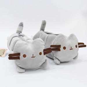 Cute Grey Cat peluche Toy Cat Pencil Pen Sacchetto di scuola Forniture per animali per i bambini