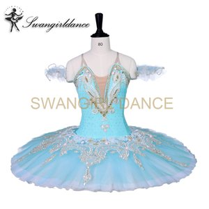 Adultos Profesional Ballet Tutus Azul Negro Le Corsaire Performance Tutu Disfraz Raymonda Platter Panqueque Ballet Tutu Falda BT9059B