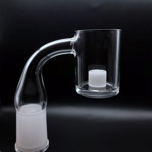 Opaque Core Reactor Quartz Banger With 4mm Bottom 10mm 14mm 18mm Male Female 45 90 Flat Top Quartz Banger Nails For Glass Bongs
