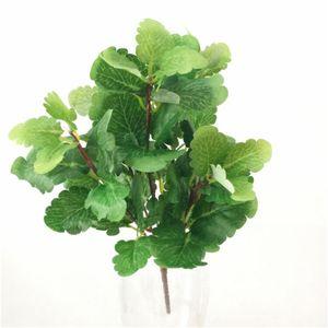 Verdure un faux Bunch Leaf Mint Plante artificielle pour 30cm de soirée de mariage décoratifs pour la maison Verdure Floral Partie Arrangement