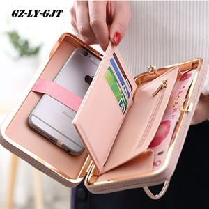 Nueva moda monedero cartera mujer famosa marca titulares de tarjetas teléfono móvil bolsillo regalos para mujeres bolsa de dinero embrague monedero damas