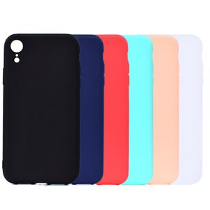 Cubierta del color del caramelo para el iPhone XR Funda Soft TPU Ultrafina Diseñador Mobie Phone Cases Capinha Para iPhone XR 6.1 pulgadas