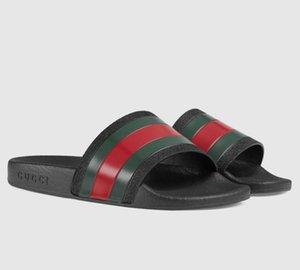 Mulher / homem deslizadores das sandálias chinelos de alta qualidade das sandálias calçados casuais Trainers Flat Shoes Deslize Eu: 35-45 Com a caixa 13