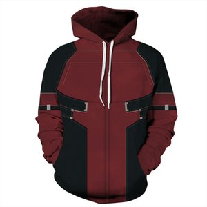 3D Printed Hoodies Unisex Streetwear Men's Casual Zip Up Sweatshirt Hooded Halloween Costume Coat
