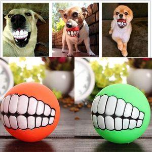 Komik Sevimli Evcil Köpek Yavrusu Kedi Topu Diş Oyuncak Kalınlaşma PVC Çiğnemek Ses Köpekler Oynayan Squeaker Gıcırtılı Oyuncaklar Pet Malzemeleri c650