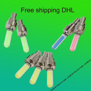 DHL shipping Led Flash Tyre Wheel Valve Cap Light For Car Bike Bicycle Motorbicycle Wheel Light Tire
