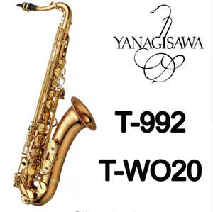 Tout neuf YANAGISAWA Saxophone Ténor T-WO20 T-992 Or Laque Sax Professionnel Embouchure Patchs Plaquettes Roseaux Cou