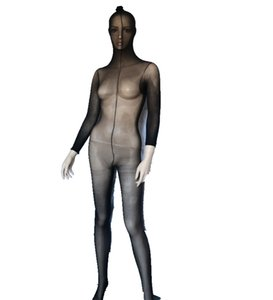 Full Body Uomo Donna Collant Collant Stocking Lingerie, Sexy Sheer Bodystocking Full Bodyhose Wrap Bodyhose S926