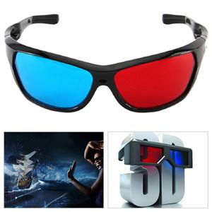 New Black Frame Universal 3D óculos De Plástico Vermelho Azul Ciano 3D de vidro Anaglyph 3D Filme Jogo DVD visão / cinema