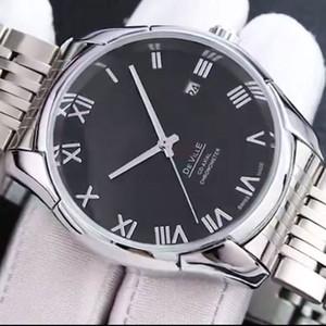 Orologio da polso orologi da uomo di moda Top meccanico automatico quadrante di pelle 40mm in acciaio inox di business di banda per gli uomini migliori Relogios regalo