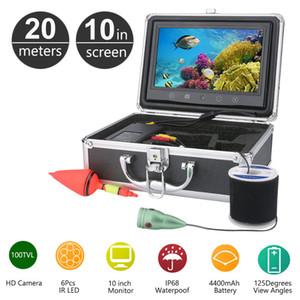 20M الصيد تحت الماء 10 بوصة لون شاشات الكريستال السائل 1000TVL CMOS للماء الصيد كاميرا فيديو الأشعة تحت الحمراء