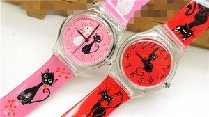 Yüksek Kalite moda Kedi Karikatür Tasarım izle / sevimli Çocuk saati / çocuk Kuvars Bilek Saatler