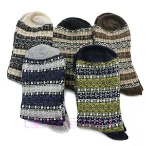 Großhandels- 1 Paar Männer Warm Winter Dicke Wolle Mischung Angora Cashmere Casual Dress Socken