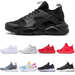 الاحذية Huarache الترا رن 4 أحذية للرجال والنساء الثلاثي أبيض أسود وردي رجل رياضة حذاء رجل إمرأة حذاء رياضة مدرب scarpe