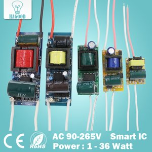 1-36W LED سائق الإدخال AC90-265V التيار الكهربائي المدمج في ثابت الحالي 300mA محولات إضاءة لDIY مصابيح
